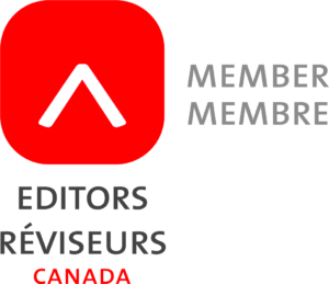 logo of white caret inside red square and Member and Editors Canada written in English and French