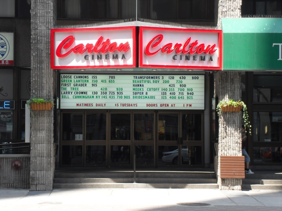 External photo of the Carlton Cinema in Toronto