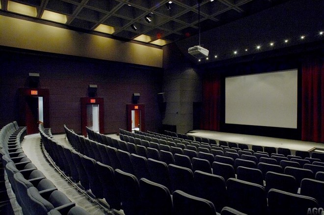 Interior photo of the Hal Jackman auditorium at the AGO in Toronto